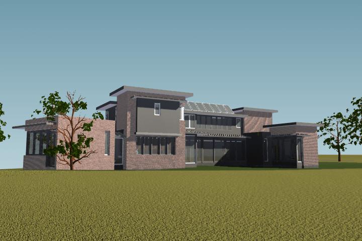 contemporary home takes shape