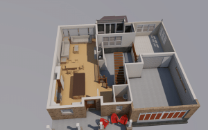 3d 1st floor plan