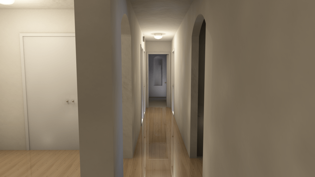 hall view rendering
