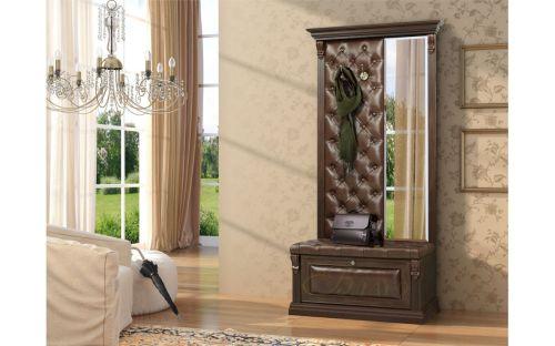 Вешалка с обувницей и зеркалом Б5.8-4 Орех