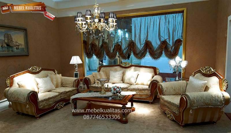 Kursi Tamu Klasik Set Sofa Mewah Sicily Kts Ai020
