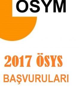 2017 ÖSYS Başvuruları