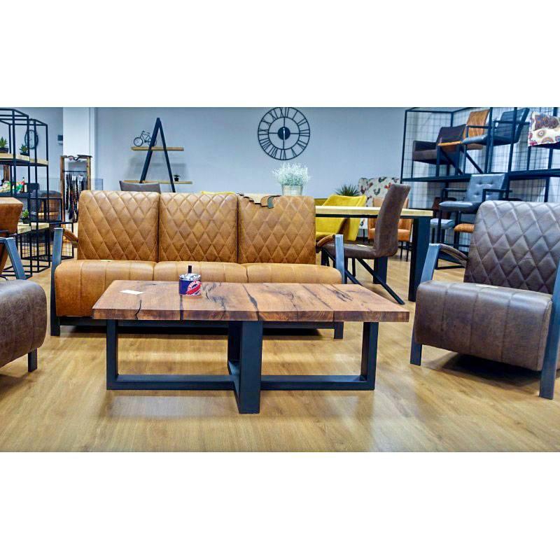canape 3 places en cuir de style industriel et vintage manhattan iii