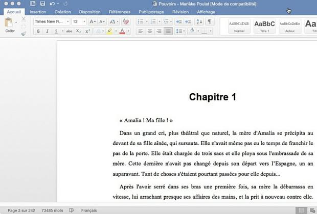 Microsoft Word 2016 pour Mac - Article