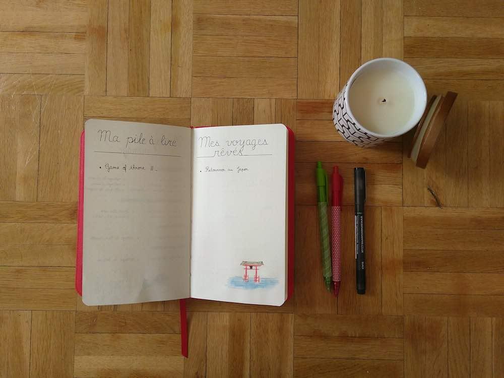 Mes collections : Pile à lire et voyages rêvés