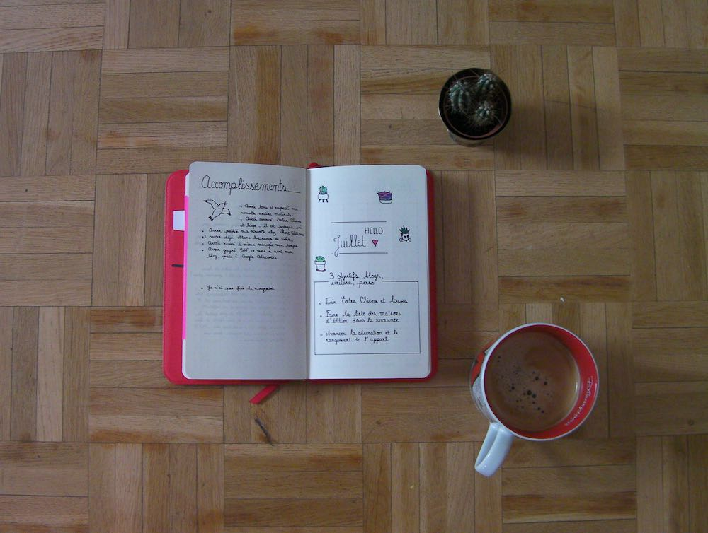 Page Home - Bullet journal - Mécanismes Histoires