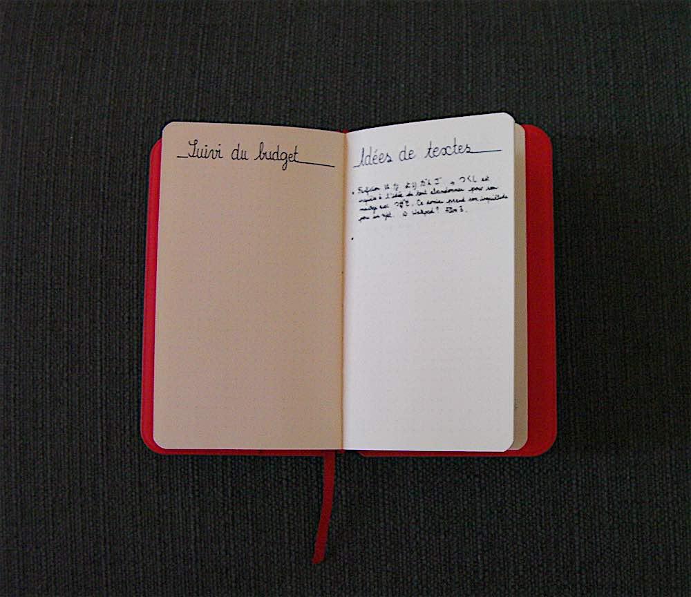 Page Idée de texte - Suivi budget - Bullet journal - mecanismes-dhistoires.fr