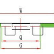 Cadena de platillos recta 812-2