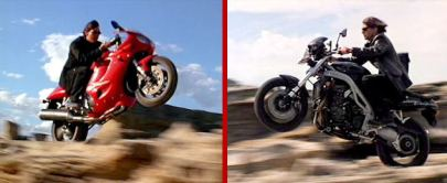 Triumph Daytona et Speed Mission Impossible 2