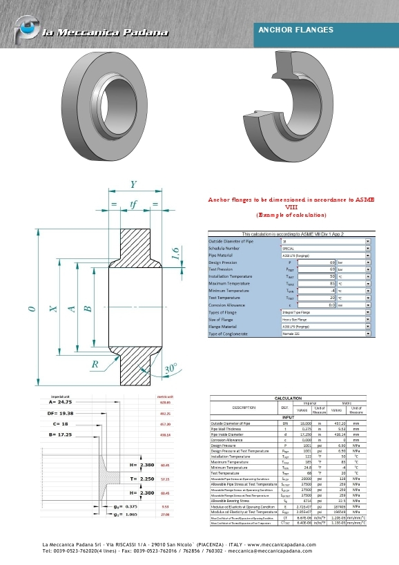 Anchor Flanges Datasheet 98 Lmp