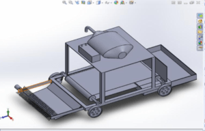 REMOTE CONTROLLED SCRAP COLLECTING VEHICLE