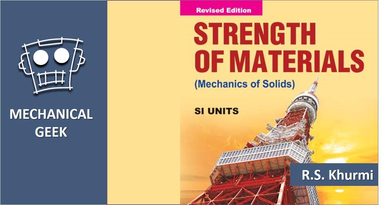 Strength of materials book free download khurmi