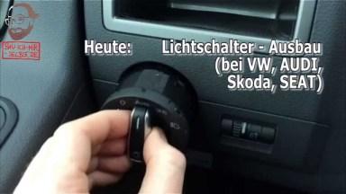 Volkswagen Audi Skoda Seat Lichtschalter