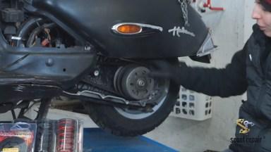 Motorroller Kupplung und Gegendruckfeder