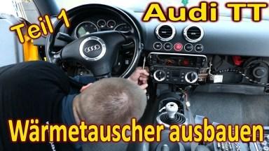 Audi TT 8N Wärmetauscher