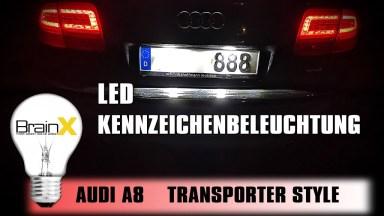 Audi A8 LED Kennzeichenbeleuchtung