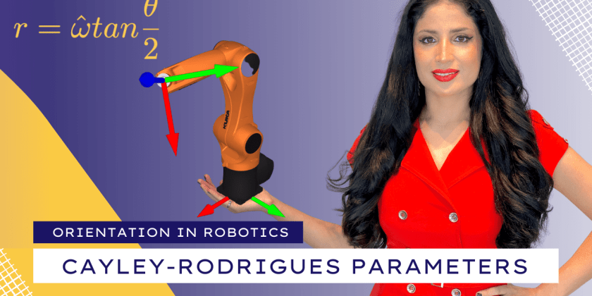 Cayley-Rodrigues Parameters to Express Orientations in Robotics