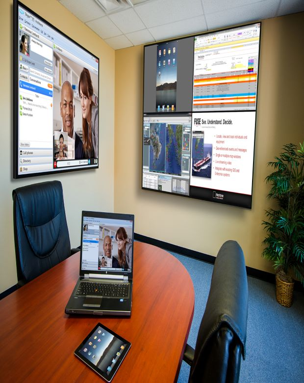 Mechdyne Meeting Canvas Software in Conference Room