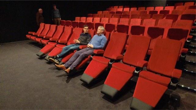 Drie cinemazalen met zitcomfort
