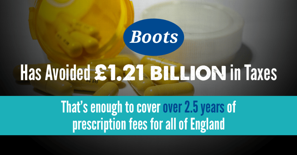 Boots tax avoidance poster
