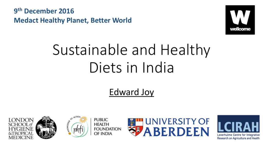 "Edward Joy – ""Sustainable and Healthy Diets in India"""