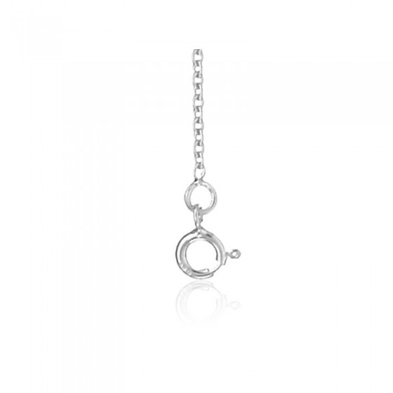 chaine maille forcat or blanc 9 carats 45 cm
