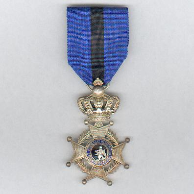 Order of Leopold II, knight (Ordre de Léopold II, chevalier / Orde van Leopold II, ridder), post-1951 issue