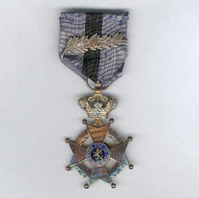 Order of Leopold II, knight (Ordre de Léopold II, chevalier / Orde van Leopold II, ridder), pre-1951 issue, with King Albert palm, 1909-1934 issue