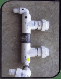 signature heat pump water header