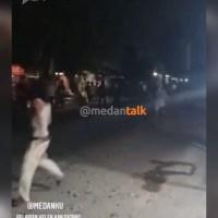 Keributan antara pemuda terjadi lagi di daerah klambir 5 Menurut pengirim video,