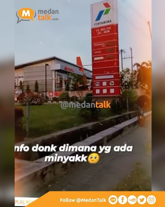 BBM langkah di Medan Sumut… ayo bantu share di SPBU mana saja yang masih tersedia BBM, dimana saja yang sudah kehabisan?  Laporan video dikirim oleh kawanmedantalk 13/10/21