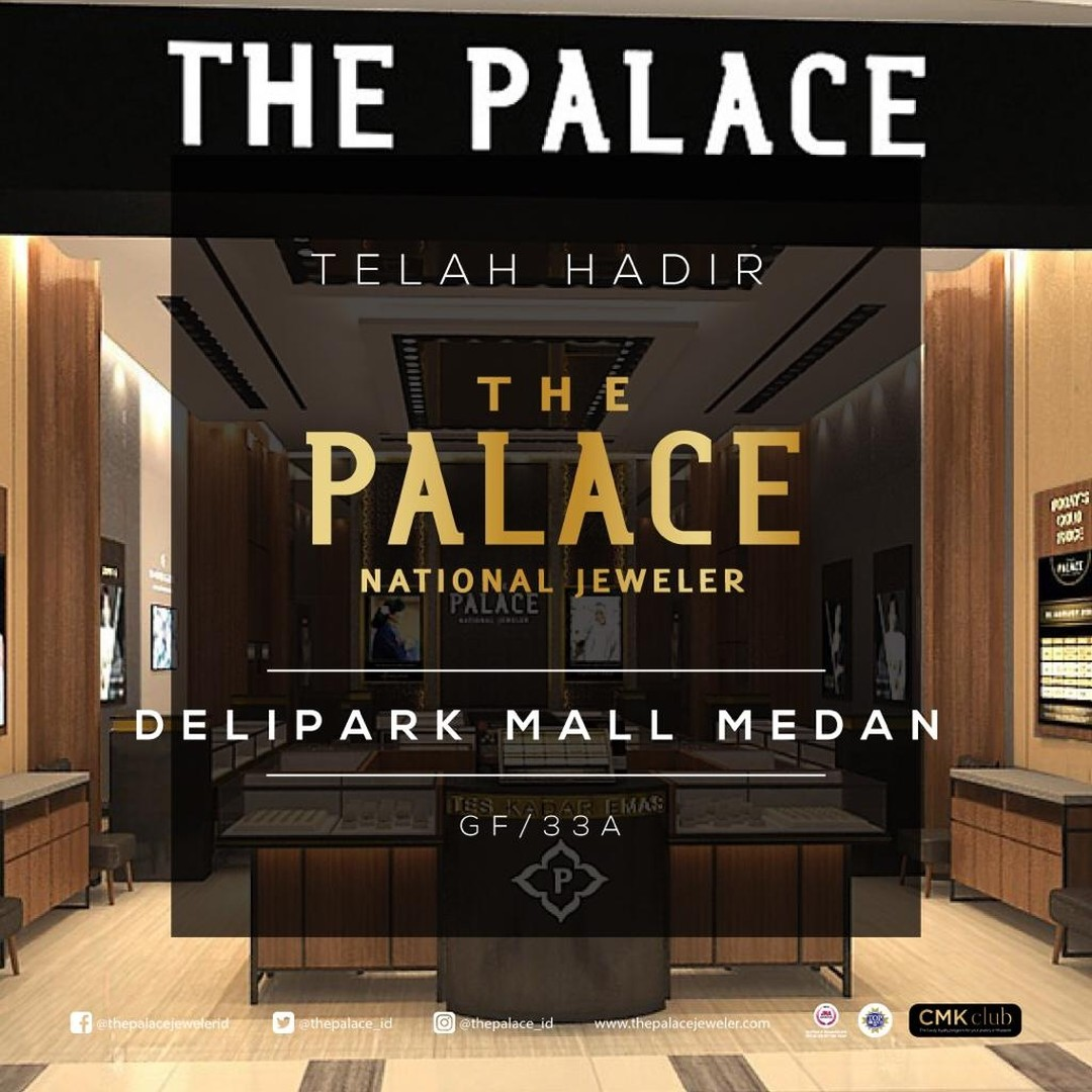 Kabar gembira, The Palace Jeweler kini hadir di Medan! Temukan beragam koleksi perhiasan emas dan berlian berkualitas dan menarik dari The Palace di @deliparkmedan sekarang juga! Kunjungi toko @thepalace_id Mall Deli Park  dan dapatkan promo spesial!