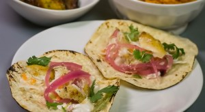 Fish Tacos with Pickled Onions