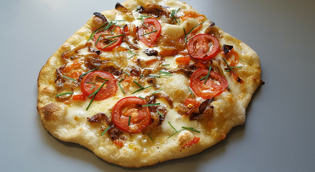 White Pizza Peppadew Peppers