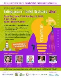 Entrepreneurs' Toolkit Bootcamp Lanai