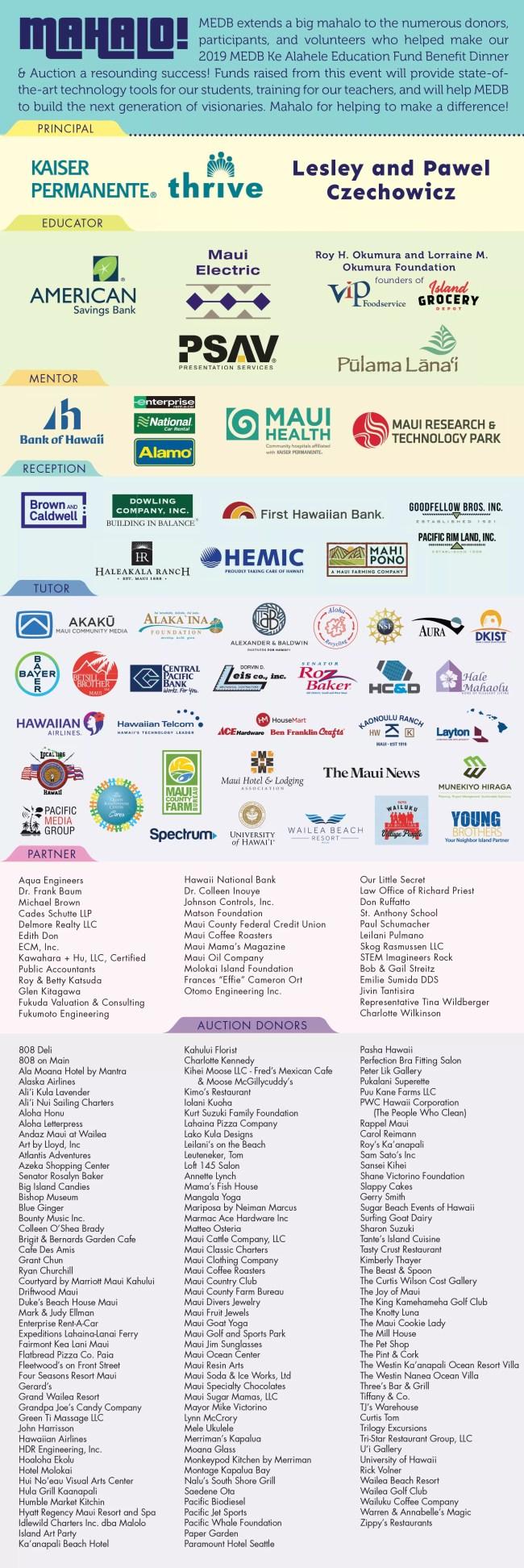 2019 KAH Sponsors