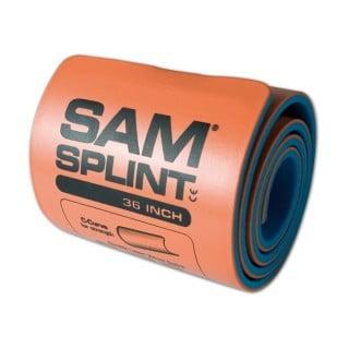 """SAM Splint 36"""" yleislasta, lastat ja tukeminen"""