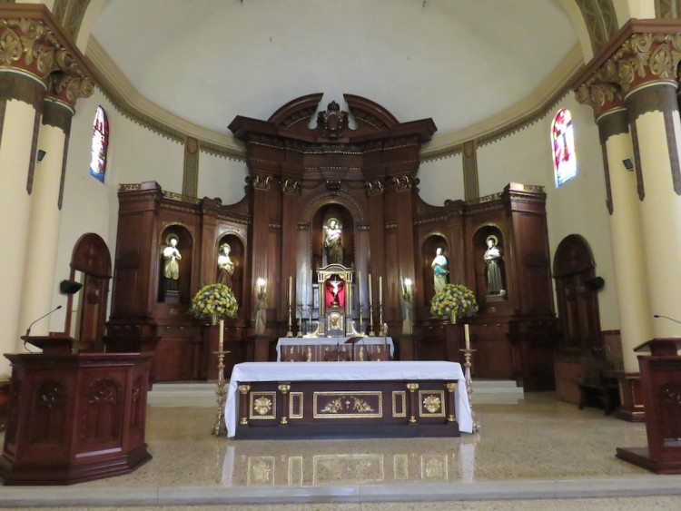 The main alter in the church