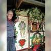 Jac Vlaar bij zijn orgel de Callisto, op 6 mei vertelt hij bij het Huis van Oud over draaiorgels.