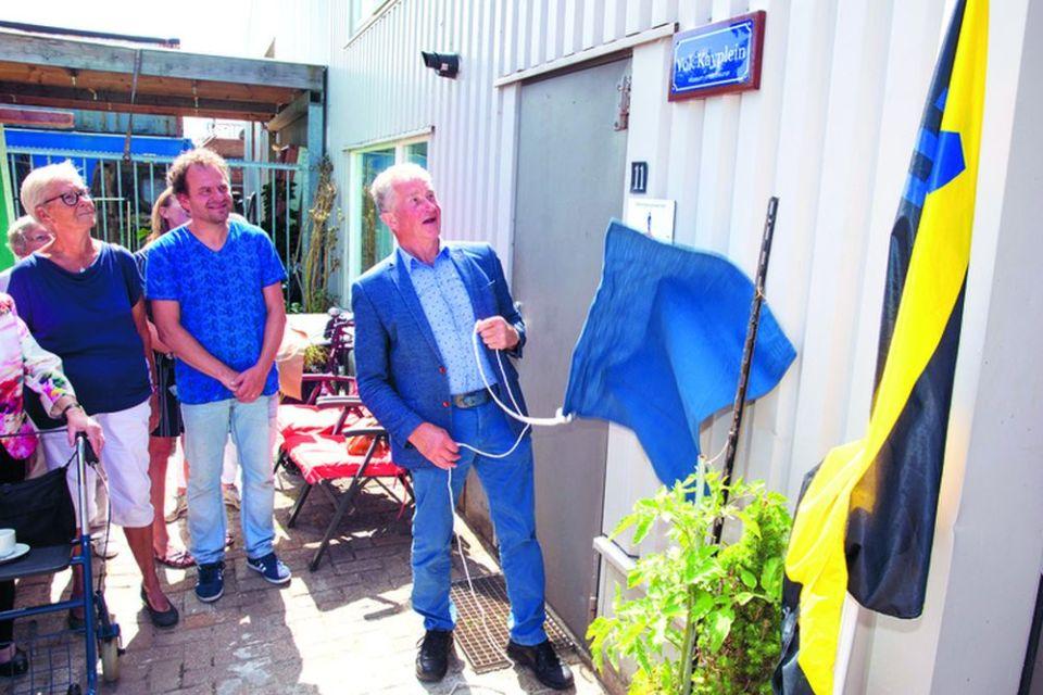 Vok Kay opent het museumdepot aan de Nijverheidsweg in Medemblik. (Foto: Rodi Media / Vincent de Vries)