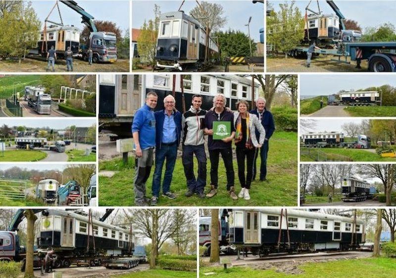 Tram verplaatst van de Horn naar camping Dijk en Meer in Andijk. Foto: Koos Dol