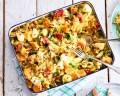 Wat eten wij vandaag: Ovenschotel van spruitjes en zoete aardappel
