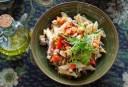 Wat eten wij vandaag: Pasta met aubergine, paprika en tomaat