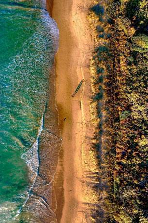 Emerald-Beach-Drone-Sunrise