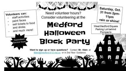 Volunteer for Halloween Block Party