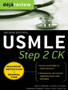 Book Cover: Deja Review USMLE Step 2 CK PDF 2nd Edition
