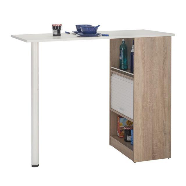 table comptoir de cuisine bois blanc faytou