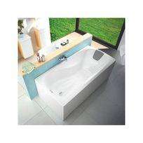 ravak baignoire ergonomique speciale grandes tailles xxl 190 cm avec tablier