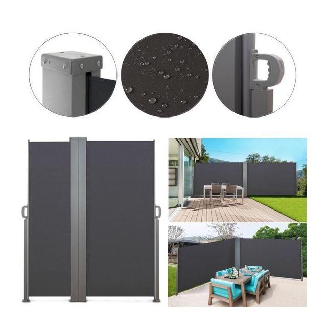 double 600x160cm gris store vertical