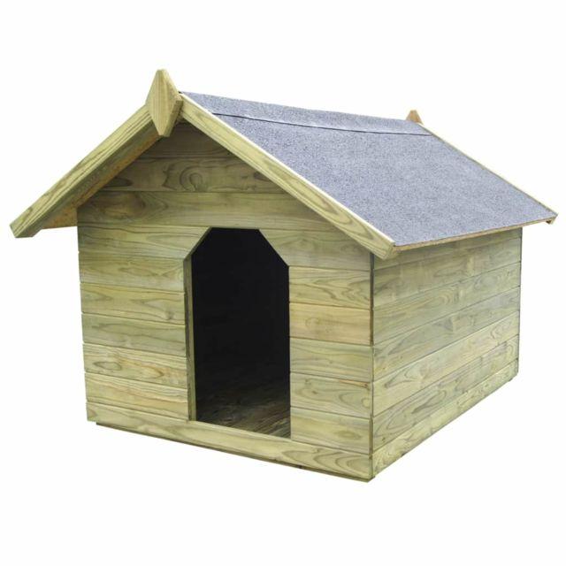 niche de jardin avec toit ouvrant en bois de pin impregne